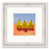 Pears 2 16.25-Inch Square Framed Wall Art