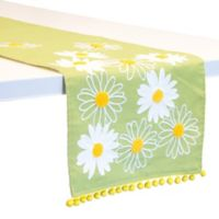 Boston International Lime Daisy 72-Inch Table Runner