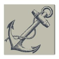 Oliver Gal™ Nautical Anchor 43-Inch Square Canvas Wall Art in Grey