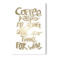 Oliver Gal™ Coffee and Wine 10-Inch x 15-Inch Canvas Wall Art