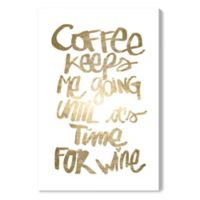 Oliver Gal™ Coffee and Wine 20-Inch x 30-Inch Canvas Wall Art