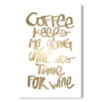Oliver Gal™ Coffee and Wine 24-Inch x 36-Inch Canvas Wall Art