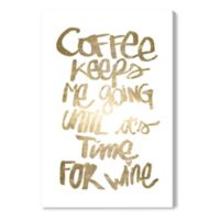 Oliver Gal™ Coffee and Wine 30-Inch x 45-Inch Canvas Wall Art