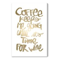 Oliver Gal™ Coffee and Wine 40-Inch x 60-Inch Canvas Wall Art