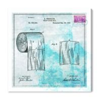Oliver Gal™ Toilet Paper Blueprint 20-Inch x 20-Inch Canvas Wall Art