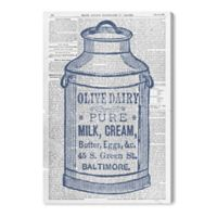 Oliver Gal™ Vintage Olive Dairy 20-Inch x 30-Inch Canvas Wall Art in Blue