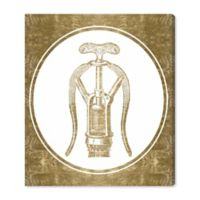 Oliver Gal™ Vintage Corkscrew 17-Inch x 20-Inch Canvas Wall Art in Gold
