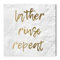 Oliver Gal™ Lather, Rinse, Repeat 36-Inch Square Canvas Wall Art in Gold
