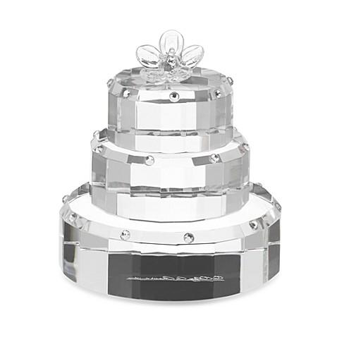 Oleg Cassini Crystal Diamond Wedding Cake Favor Bed Bath Beyond