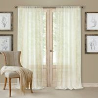 Addison Rod Pocket 84-Inch Window Curtain Panel in Ivory