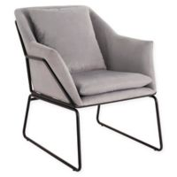 Elle Décor® Polyester Upholstered Odile Chair in Gray