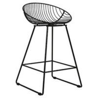 "CosmoLiving by Cosmopolitan Ellis 24.5"" Bar Stool in Black"