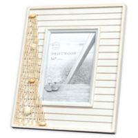 Prinz Driftwood Shells 5-Inch x 7-Inch Picture Frame in Natural/White