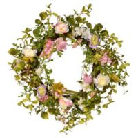 National Tree Company Berry Clusters 24-Inch Wreath in Pink