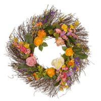 National Tree Company Multicolor Wildflowers 24-Inch Wreath