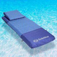 Solstice Designer Mattress Pool Float in Blue
