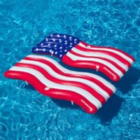 Swimline American Flag Connector Mat Pool Float