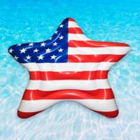 Swimline American Star Pool Float in Red