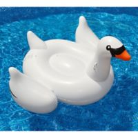 Swimline Giant Swan Pool Float in White