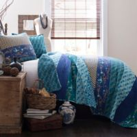 Lush Decor Royal Empire Reversible King Quilt Set in Peacock