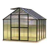 Riverstone Monticello Black 8-Foot x 8-Foot Residential Greenhouse in Black
