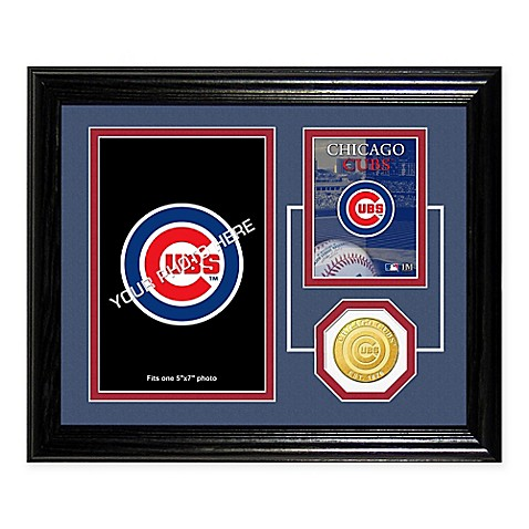 Wrigley Field Fan Memories Desktop Photo Mint Frame