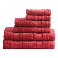 Madison Park Adrien 6-Piece Bath Towel Set in Red