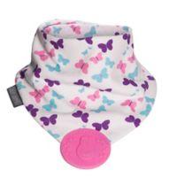Cheeky Chompers® Neckerchew® Teething Butterfly Bandana Bib in White/Multicolor