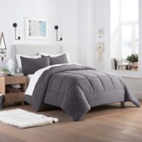 UGG® Devon Reversible Twin/Twin XL Comforter Set in Charcoal