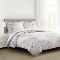 Milou Floral Full/Queen Comforter Set in Ivory