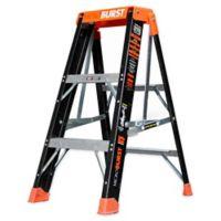 Little Giant 3-Foot MicroBurst Type IAA Fiberglass Ladder in Black