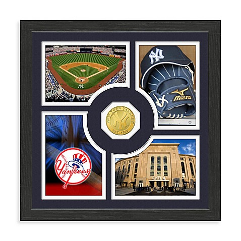 New York Yankees Fan Memories Minted Bronze Coin Photo Frame