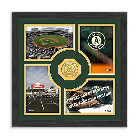 Oakland Athletics Fan Memories Minted Bronze Coin Photo Frame