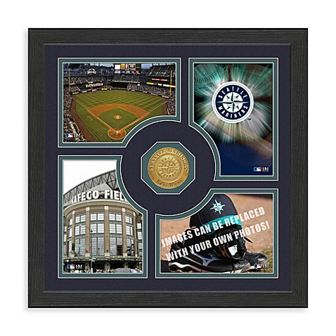 Seattle Mariners Fan Memories Minted Bronze Coin Photo Frame