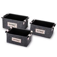 Danya B™ 3-Piece Felt Storage Basket Set in Grey