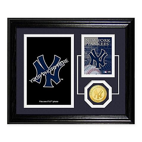 New York Yankees Fan Memories Desktop Photo Mint Frame Bed Bath