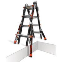 Little Giant® 17-Foot Dark Horse Type IA Fiberglass Ladder with Walkthrough Docks