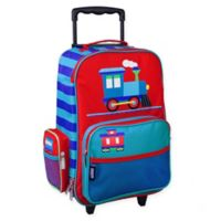 Wildkin Trains, Planes & Trucks Upright Luggage in Blue