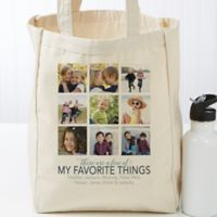 My Favorite Things Personalized Small Canvas Tote Bag