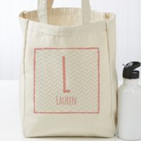 Her Name Statement Personalized Large Canvas Tote Bag