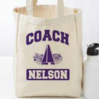 Coach Personalized Small Canvas Tote Bag