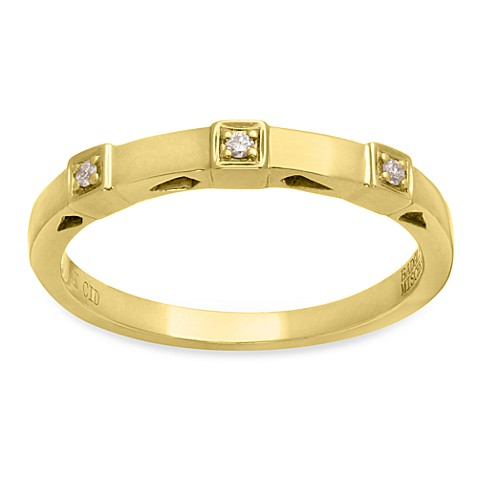 Badgley Mischka® The Romantics Size 7 14K Gold Diamond Band (.03 cttw, I1-I2 clarity, H-I)