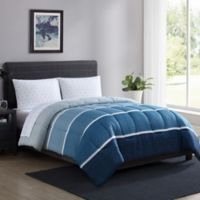 Newport 5-Piece Reversible Queen Comforter Set in Navy