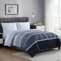 Newport 5-Piece Reversible California King Comforter Set in Grey