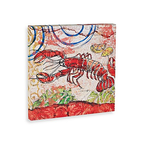 Red and Blue Lobster Wall Art