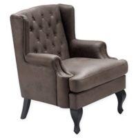 Serta® Mason Tufted Armchair in Dark Brown