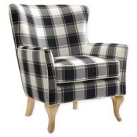 Linen Upholstered Dara Chair in Black/white