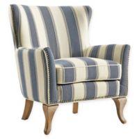 Linen Upholstered Arizona Chair in Blue