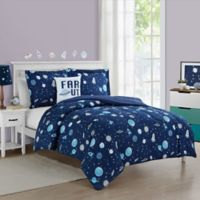 Space Boy Twin Comforter Set in Dark Blue