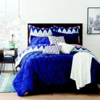 Aztec Reversible 10-Piece Queen Comforter Set in Navy